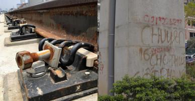 Ảnh: Lem nhem đường sắt đô thị Cát Linh – Hà Đông
