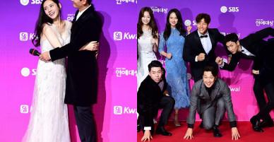 """Thảm đỏ SBS Entertainment Awards: Bộ đôi mỹ nam OngNiel điển trai như hoàng tử, """"tiểu Taeyeon"""" đọ sắc bên Song Ji Hyo"""