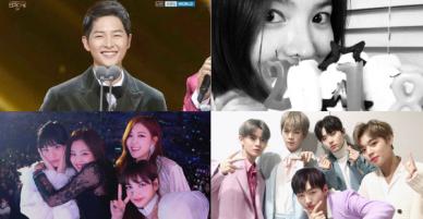 Sao Hàn mừng năm mới 2018: Vợ chồng Song Song rạng rỡ, Big Bang, Wanna One bận rộn đi diễn, Jessica sang hẳn Trung Quốc