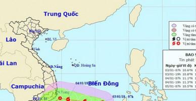 Hình thành cơn bão số 1 trên Biển Đông