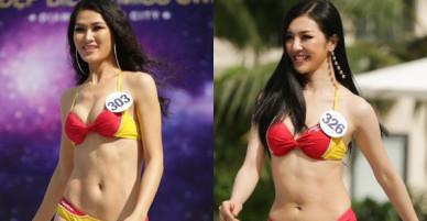 Dàn người đẹp Hoa hậu Hoàn vũ lộ đùi to, bụng mỡ khác xa ảnh photoshop trong phần thi trình diễn bikibi