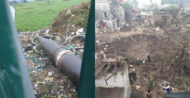 Vụ nổ ở Bắc Ninh: Phát hiện một vật thể giống bom gần hiện trường