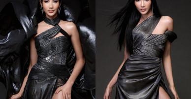 Hoàng Thùy diện váy xuyên thấu hóa 'Nữ thần' quyền lực trước thềm chung kết HHHV