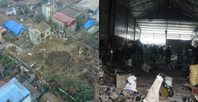 Chủ kho phế liệu ở Bắc Ninh dùng cách lạ để lấy kim loại