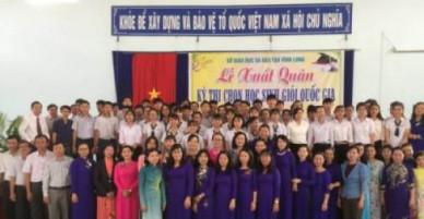 Lễ xuất quân kỳ thi chọn học sinh giỏi quốc gia năm 2018