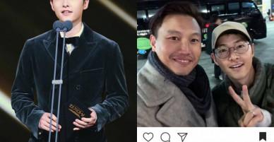Mới lấy vợ được hơn 2 tháng mà Song Joong Ki đã phờ phạc thế này