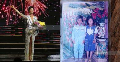 """Ảnh hiếm hoi thời thơ ấu của H'Hen Niê: Hóa ra Tân Hoa hậu Hoàn vũ VN đã """"trung thành"""" với mái tóc ngắn từ tấm bé!"""