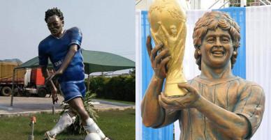 Cựu sao Ngoại hạng Anh được tri ân bức tượng không thể xấu hơn