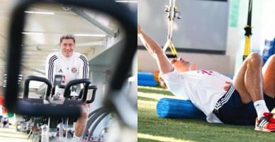Lewandowski vùi đầu trong phòng tập gym chờ ngày tái xuất