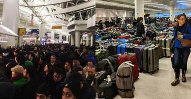 Khung cảnh hỗn loạn tại sân bay JFK sau bom bão tuyết: Hơn 6000 chuyến bay bị hủy bỏ, 2 vụ va chạm máy bay xảy ra