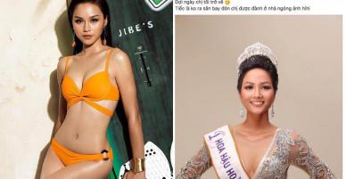 Ứng viên trượt Hoa hậu Hoàn vũ gây xôn xao với hành động không chúc mừng H'Hen Niê