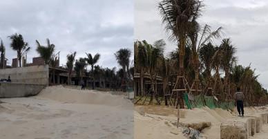 """Hàng chục biệt thự xây dựng sai phép ven biển bị """"thổi còi"""" tiếp tục… mọc"""
