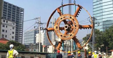3 tháng tháo lắp robot khổng lồ để khoan hầm metro thứ 2 Sài Gòn - VnExpress