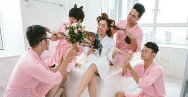 Em gái Trấn Thành kết hôn với bạn trai Hồng Kông, tung bộ ảnh cưới nhắng nhít cùng hội bạn thân