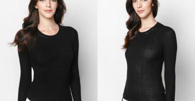 Áo len đen ánh kim tay bèo – Mimi
