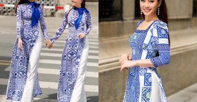 Thanh Thanh Tú, Diễm Trang khoe sắc với áo dài cách tân