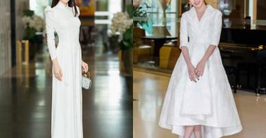 Trang phục sắc trắng 'chiếm lĩnh' bảng phong thần thời trang đầu tháng 1/2018