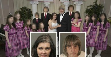 Cặp vợ chồng Mỹ xích 13 đứa con vào giường, bỏ đói đến suy dinh dưỡng
