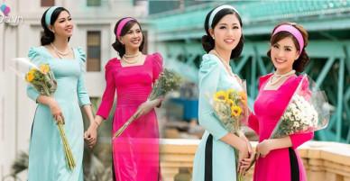 Ngắm Á hậu Thanh Tú, Diễm Trang diện áo dài đôi là thấy Tết đến thật gần rồi!
