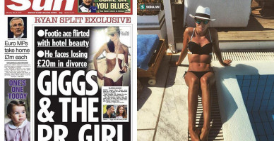 """Nghi án dan díu tình cũ Ronaldo chưa kịp nguội, Ryan Giggs đã khoe """"gái mới"""""""