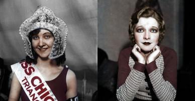 Vẻ đẹp của những hoa hậu Mỹ từ cách đây cả gần 100 năm hồi sinh nhờ công nghệ chỉnh màu ảnh đen trắng