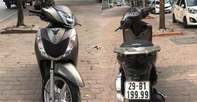 Honda SH 2012 biển ngũ quý giá gần 300 triệu đồng tại Hà Nội
