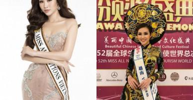 Thí sinh bị loại ở Bán kết HHHV Việt Nam gây bất ngờ đăng quang Á hậu 2 tại Hoa hậu Các quốc gia 2017