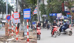 Vì sao hàng loạt biển báo trên phố Hà Nội bất ngờ được… bịt kín?