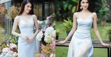 Á hậu Thuỳ Dung gợi ý chọn váy hai dây tôn nét gợi cảm