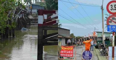 Ảnh: Xuyên trưa khắc phục sự cố sập cầu Long Kiển ở TP.HCM