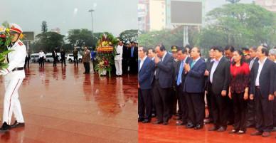 Thủ tướng dâng hoa tưởng niệm tại Tượng đài Nguyễn Sinh Sắc-Nguyễn Tất Thành