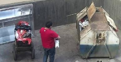 Con gái mới sinh được hai tiếng, bố đem vứt vào thùng rác
