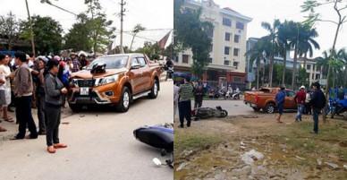 """Ô tô """"điên"""" tông thẳng vào nhóm CSGT và dân, 6 trọng thương"""