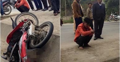 Nghe tiếng tri hô, người dân truy đuổi rồi đạp ngã nam thanh niên trộm xe máy xuống mương nước