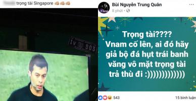 Bán kết U23 Việt Nam – U23 Qatar: Huyền My, Trang Pháp và loạt sao Việt bức xúc trước trọng tài người Singapore