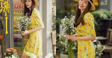 Giữa nghi vấn mang bầu lần 3, Tăng Thanh Hà bất ngờ xuống phố đẹp mắt với váy hoa