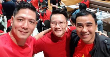 Các sao Việt bay sang Thường Châu vào sáng sớm để cổ vũ U23 Việt Nam