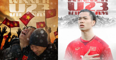 Rung động triệu trái tim Việt vì poster U23 VN quyết không cúi đầu