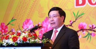 Phó Thủ tướng Phạm Bình Minh gặp mặt đoàn Ngoại giao nhân dịp Tết Mậu Tuất 2018