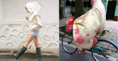 """Muôn kiểu """"thời trang phang thời tiết"""" của chị em"""