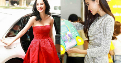 Angela Phương Trinh khoe vai trần, Mâu Thủy mặc kín mít đi mua sắm