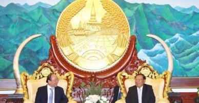 Thủ tướng Nguyễn Xuân Phúc hội kiến lãnh đạo Đảng, Nhà nước Lào