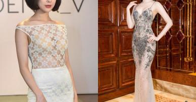 Váy trong suốt, nhìn như không của mỹ nhân Việt gây xôn xao