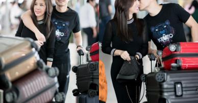 Hoa hậu Thu Hoài được trai trẻ 'hộ tống', tình cảm tại sân bay