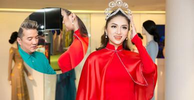 Hương Giang được Mr. Đàm tư vấn chọn áo dài thi Hoa hậu Chuyển giới