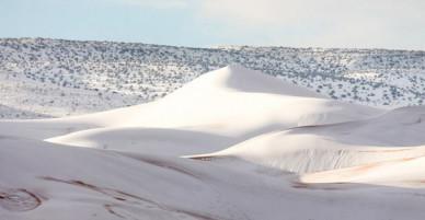 Tuyết phủ trắng nhiều vùng sa mạc Sahara lần thứ 3 trong 40 năm, có nơi dày 40cm khiến người dân kinh ngạc