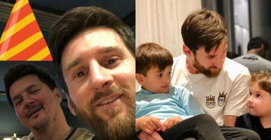 Messi đăng ảnh selfie mừng sinh nhật anh trai
