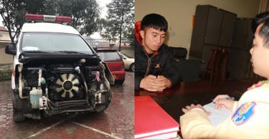 Tạm giữ tài xế xe cứu thương gây tai nạn rồi bỏ trốn trong đêm