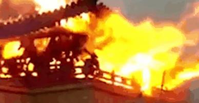 Đền thiêng gần 1.400 tuổi ở Tây Tạng bốc cháy dữ dội ngay đầu năm mới