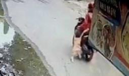 Mẹ lái xe máy kéo lê con gái trên đường tới nỗi hai đầu gối bê bết máu gây phẫn nộ